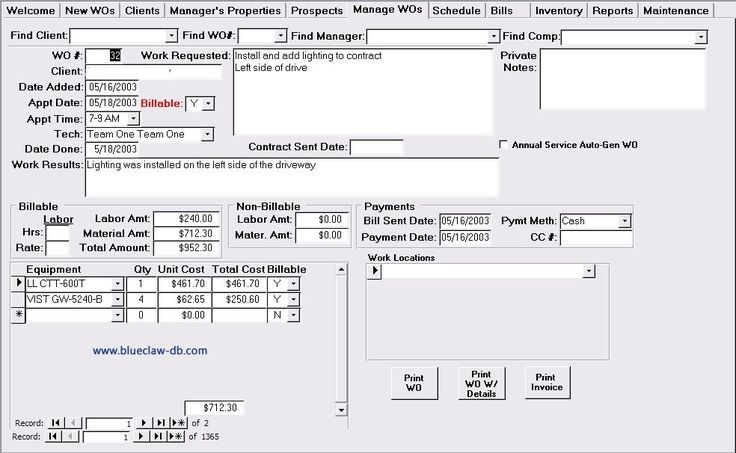 Above is a screen shot of a service work order management template - microsoft word standard operating procedure template
