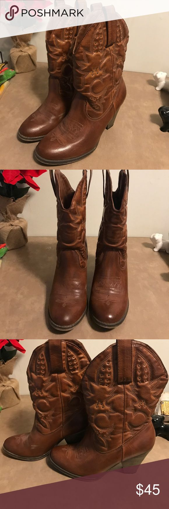 MIA Girl Size 9 Boots Look to pictures for any flaws. Super cute for all the country concerts coming up this summer! mia girl Shoes Heeled Boots