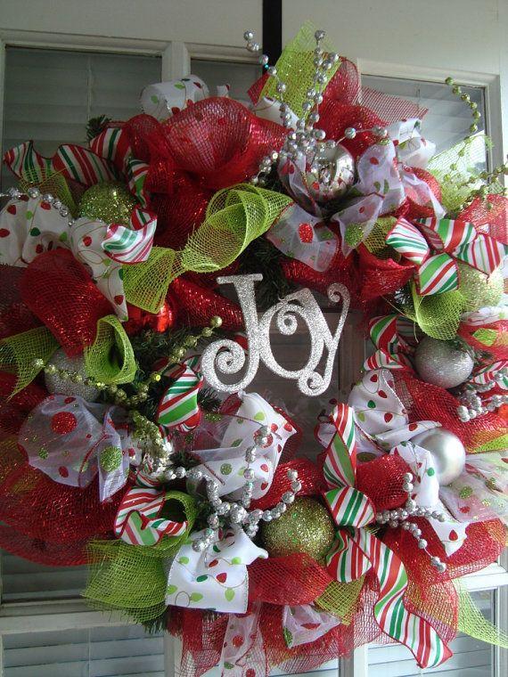 Joy: Decorations Christmas Wreaths, Christmas Wreaths Ideas, Christmas Wreaths To Make, Christmas Christmas, Decorated Christmas Wreaths, Fun Christmas, Christmas Decor, Christmas Trees