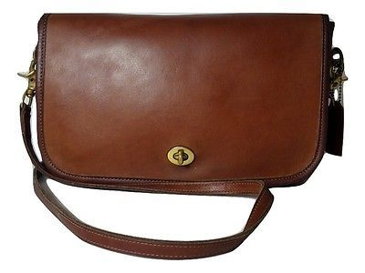 COACH Vintage British Tan Leather CONVERTIBLE Clutch Shoulder Bag ... 83efdfbdd68a5
