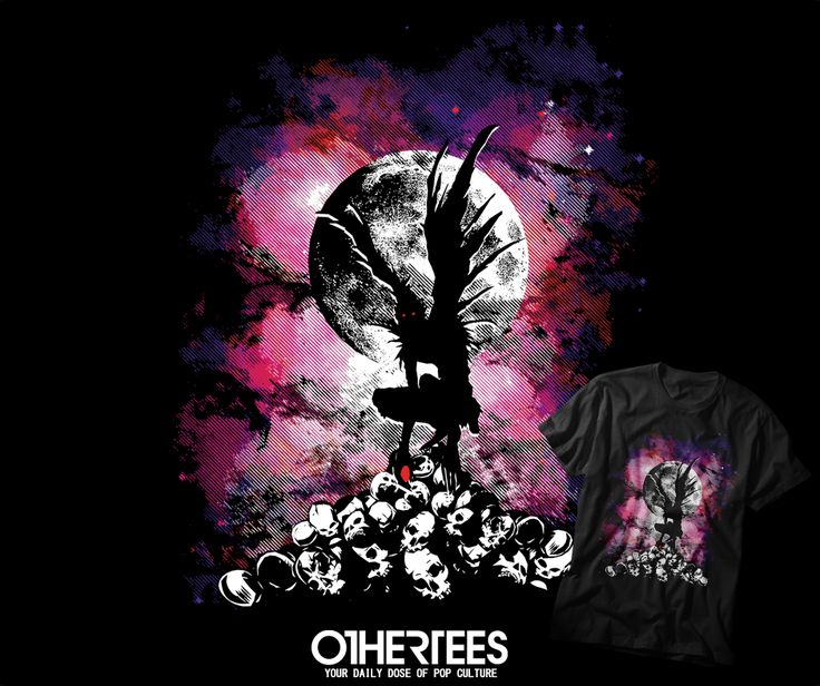 """""""DEATH SPIRIT"""" T-shirts, Tank Tops, V-necks, Sweatshirts and Hoodies are on sale until November 30th at www.OtherTees.com #tshirt #othertees #clothes #popculture #anime #shinigami #ryuk #deathnote"""