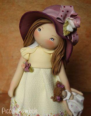 PiccoleBambole - Small Dolls - porcellana fredda - cold porcelain - autunno