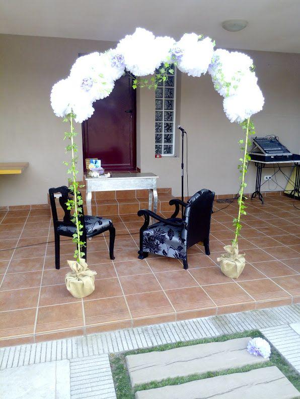 Arco para bodas con pompones de papel bodas pinterest - Decoracion con pompones ...