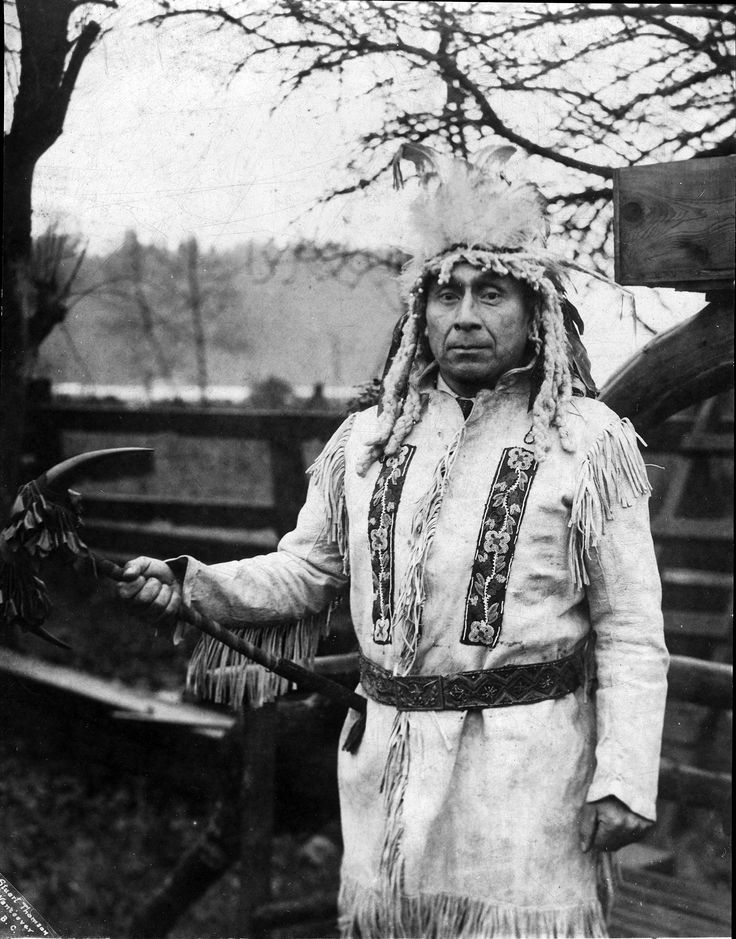 Mathias Joe Capilano  VPL Accession Number: 2690  Date: Unavailable Photographer/Studio: Thomson, Stuart  Content: Indian Chief Mathias Joe Capilano in traditional dress. http://www3.vpl.ca/spe/histphotos/