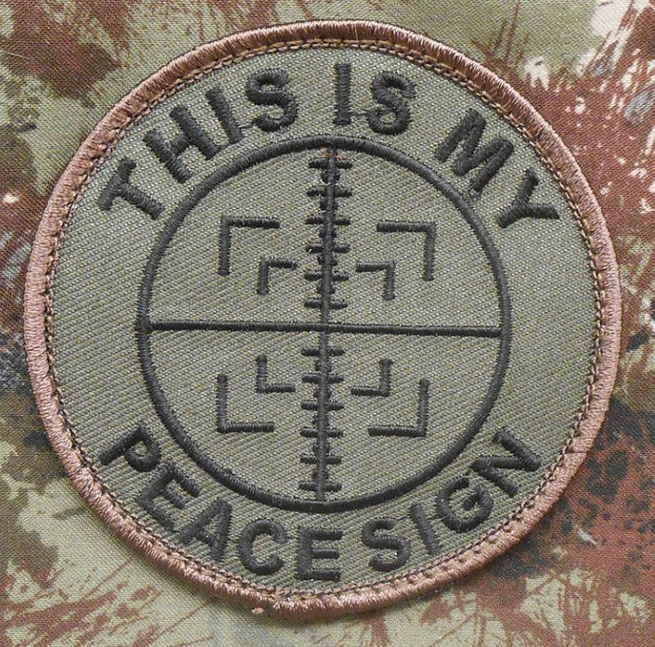 This Is My Peace Sign Tactical Sniper Milspec US Army Morale Forest Velcro Patch   eBay