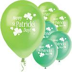 St. Patrick's Day - Suitable for helium or air inflation, please see our range of disposable helium canisters.