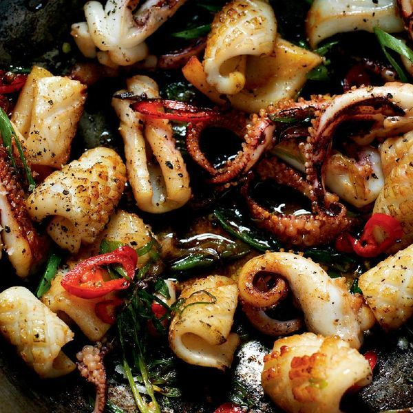 Tender pieces of squid with a crispy, spicy coating make Salt and Pepper Squid an enduringly popular dish. This foolproof salt and pepper squid recipe from seafood expert Rick Stein is a perfect dinner party starter, with impressive results for minimum effort.