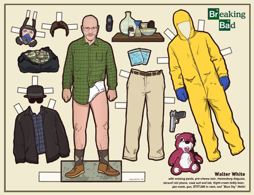 Breaking Bad Paper DollsPaper Dolls, Breakingbad, White Paper, Kyle Hilton, Cut Out, Paperdolls, Bad Paper, Breaking Bad, Walter White