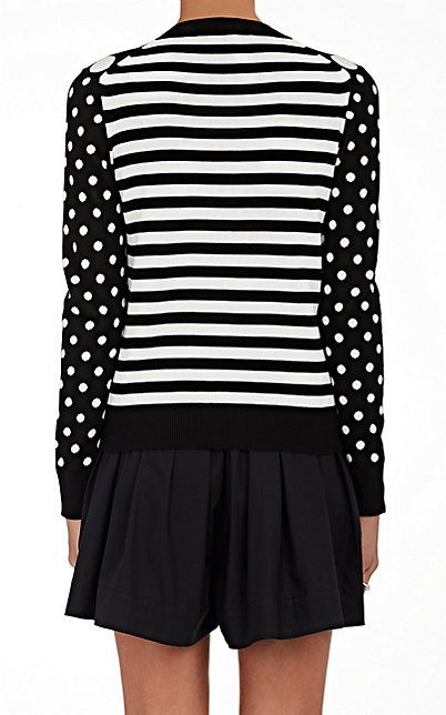 Marc Jacobs Polka Dot Cotton Cardigan - Sweaters - 504928697