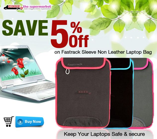 Keep Your ‪#‎Laptops‬ Safe and Secure Save 5 % Off On Fastrack Sleeve Non Leather Laptop ‪#‎Bag‬. ‪#‎LaptopsBag‬ http://www.needsthesupermarket.com/188-health-beauty-fashion-accessories