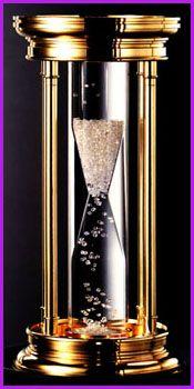 Louis Glick & De Beers /Diamond Hourglass -contains 2000  uncut diamonds=35 carats