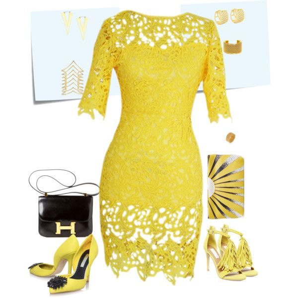 Yellow by amunaabdurahman on Polyvore featuring Miss KG, Steve Madden, Burberry, Hermès, IBB, Noir Jewelry, Chanel and Bling Jewelry