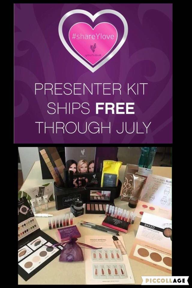 If you've been on the fence about joining me on this journey this is for YOU! 💕 We are sharing the Y love in July and your Presenters kit ships FREE!  Now.Is.The.Time #younique #freeshipping  Message me if you have questions or Go to www.kellysbeautybase.net  Click on Join