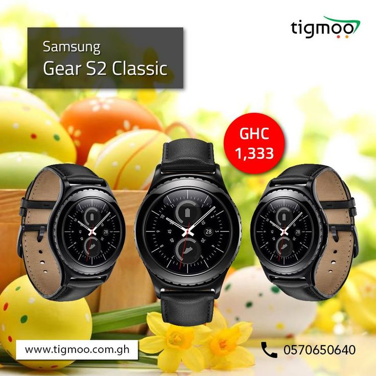 Order #SamsungGearS2 Classic at #tigmoo, available at the price GHC 1333  Order now online & get it delivered right at your doorsteps: https://www.tigmoo.com.gh/samsung-gear-s2-classic.html