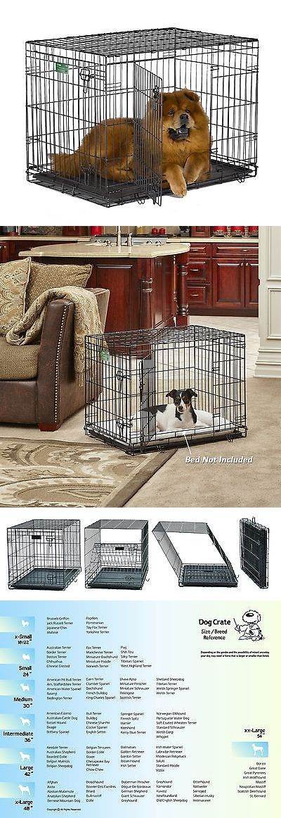 Cages and Crates 121851: Midwest Icrate Folding Metal Dog Crate Double Door 36-Inch W/Divider BUY IT NOW ONLY: $37.13
