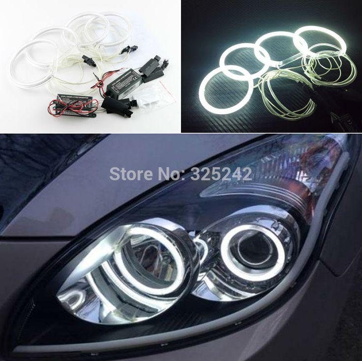 For Hyundai i30 2007 2008 2009 2010 2011 Excellent angel eyes Ultra bright headlight illumination CCFL Angel Eyes kit Halo Ring