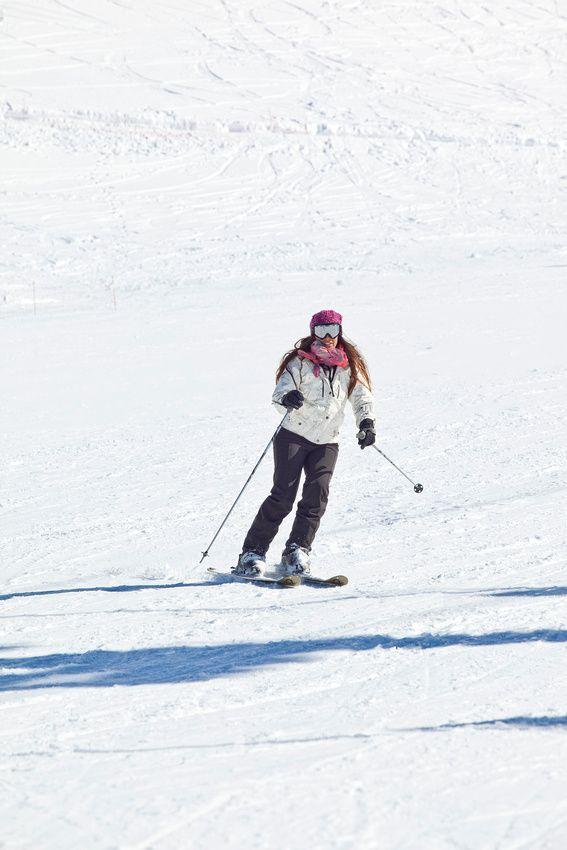 Skiing in Kalavryta, Greece