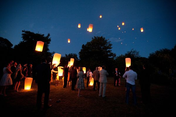 Have your guests send you off with a Sky Lantern Send Off! Make yours and his the last lantern to foat!