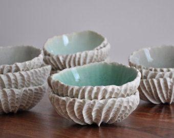 Bol en cuivre bleus biologiques bols en céramique de