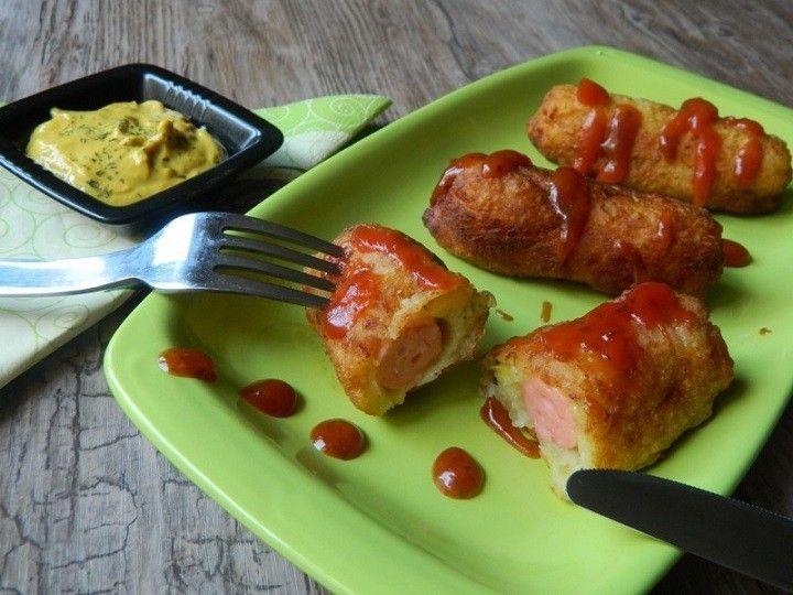 Burgonyás tésztába tekert virsli, fantasztikus íze van és elronthatatlan recept! - MindenegybenBlog