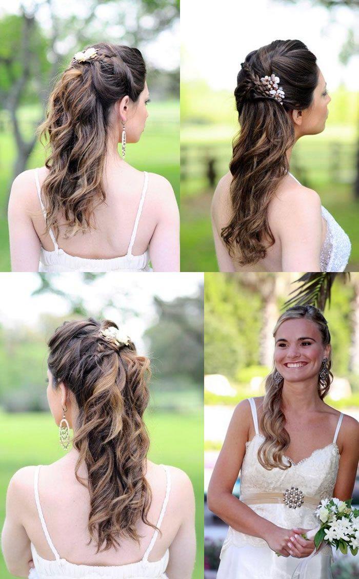 Updo peinados para la boda Pelo Largo