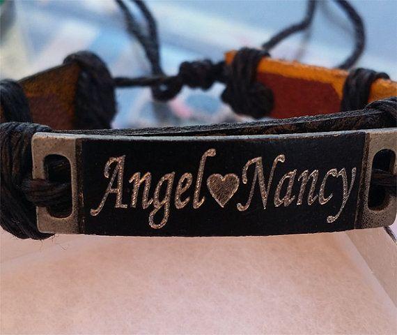 custom personalized name bracelet leather by newyorkcustommade