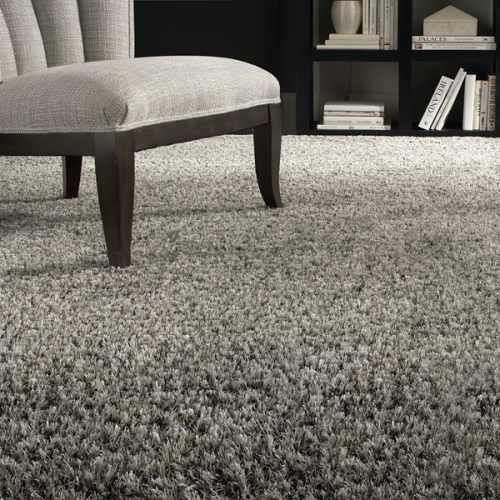 Frieze grey carpet
