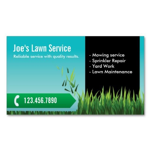 Lawn Service And Landscape: Professional Mowing/Lawn Care Business Card