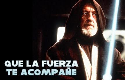 Que la fuerza te acompañe. Star Wars #frase #quote