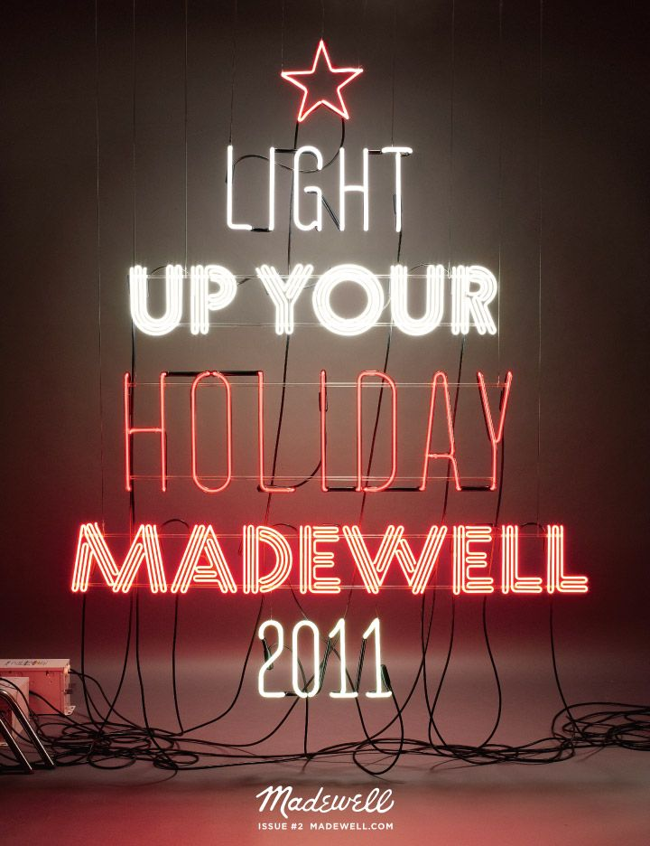 Madewell #holiday #christmas 2011 #neon