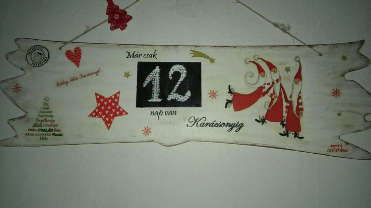 Sk karácsonyváró táblám