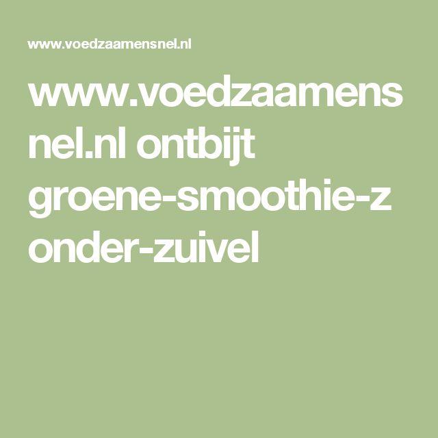 www.voedzaamensnel.nl ontbijt groene-smoothie-zonder-zuivel