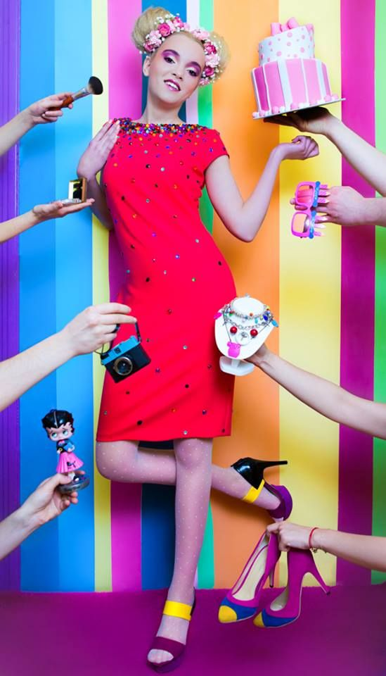 fashion, colors, candy, pink, arina varga, entitled bully, dress, Sabina Mladin, flowers, girly, fun,