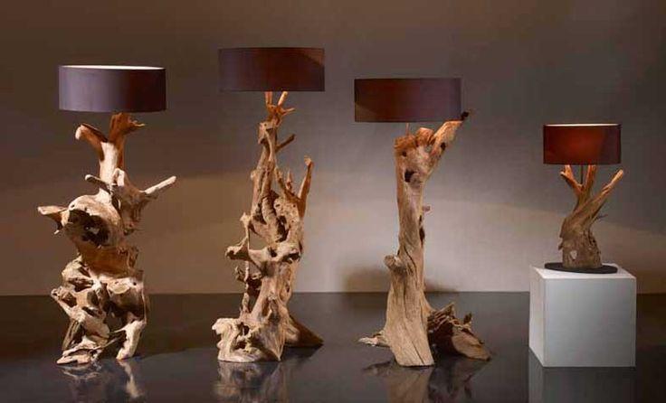 Lamparas Naturales RAICES RUSTICAS XL. Iluminación Beltran, tu tienda online en lámparas de madera naturales.