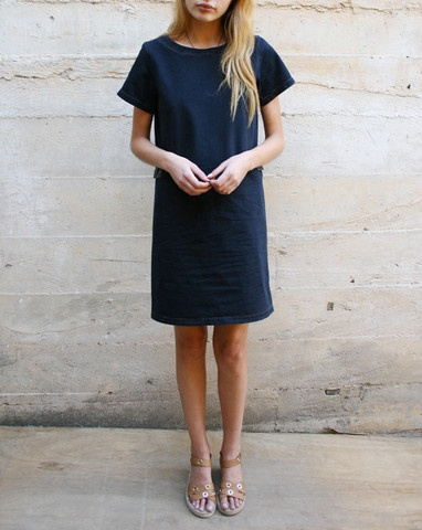 A.P.C topstitched dress