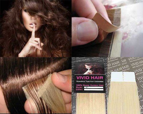 "10 Pcs X 22"" inches Remy Seamless Tape Skin weft Human Hair Extensions Color #11 Lightest Blonde by Vivid Hair. $42.99. Weight : 20.5 Grams / 10 Pieces. Width: 1.5"" inches each piece + Durable Adhesive. Pieces: 10pc ( We recommend 40 single pieces for full head). Color #11 Lightest Blonde. Length : 22"" inches + 100% Silk Straight Remy Human Hair. Tape extensions are reusable, seamless hair extensions that are pre taped and made from high quality 100% human hair. It requires no..."