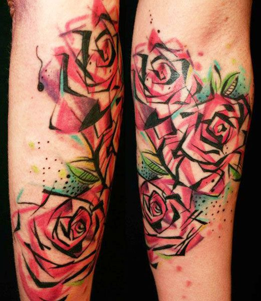 best 25 abstract flower tattoos ideas on pinterest watercolor flower tattoos watercolour. Black Bedroom Furniture Sets. Home Design Ideas