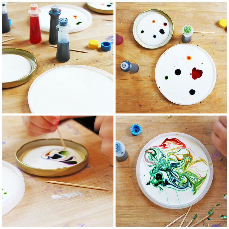 Art for Kids: Cosmic Suncatchers Materials  White Glue Food coloring Toothpicks Plastic lids (Lids from tubs of yogurt, hummus, sour cream etc. work best, although metal lids also work) Hole Punch String