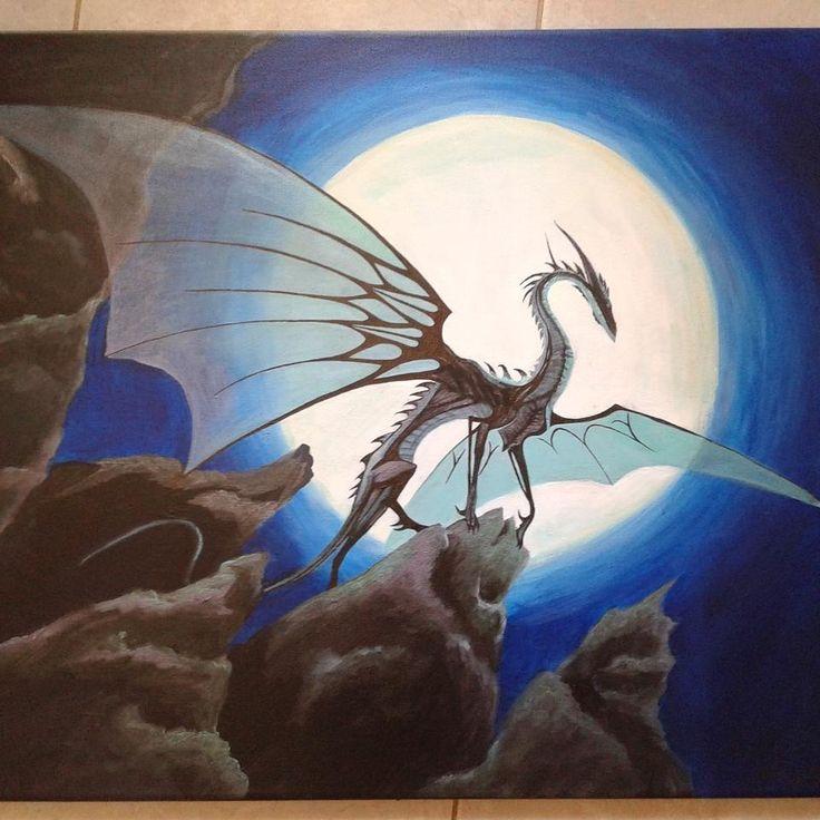 "D.Art (@d.art._) ""🐉 #drawing #painting #drawing #sketch #instart #acrylic #process #art"""