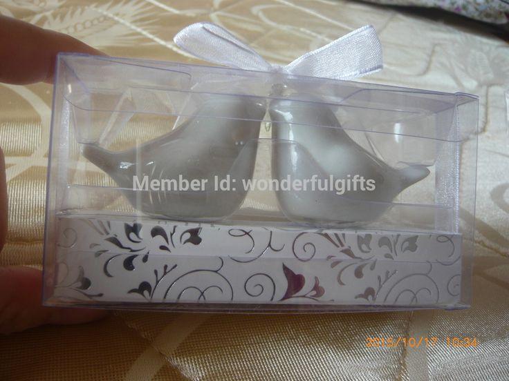 Бесплатная доставка свадебные ну вечеринку пользу подарок для гостей -- True любовь побеждает все керамические птицы соль и перец Shakers100boxes = 200 шт. / привет-ло