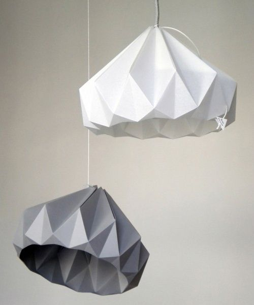 The Minimalist Store x Snowpuppe origami pendant light shades