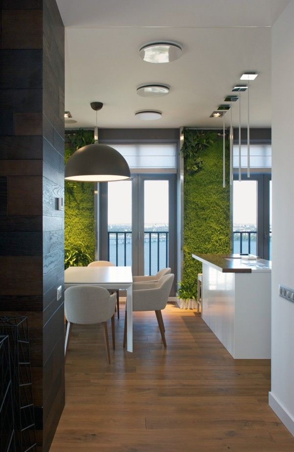Incredible Vertical Garden Walls Bring Vibrant Life to a Contemporary Apartment Interior