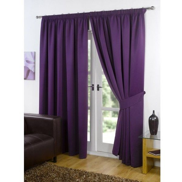 Dreamscene Blackout Pencil Pleat Curtains - Plum (£50) ❤ liked on Polyvore featuring home, home decor, window treatments, curtains, purple, track curtains, purple window treatments, plum curtains, purple curtains and woven curtains