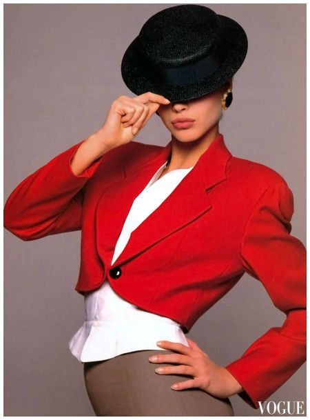 David Bailey Vogue 1988 Christy Turlington