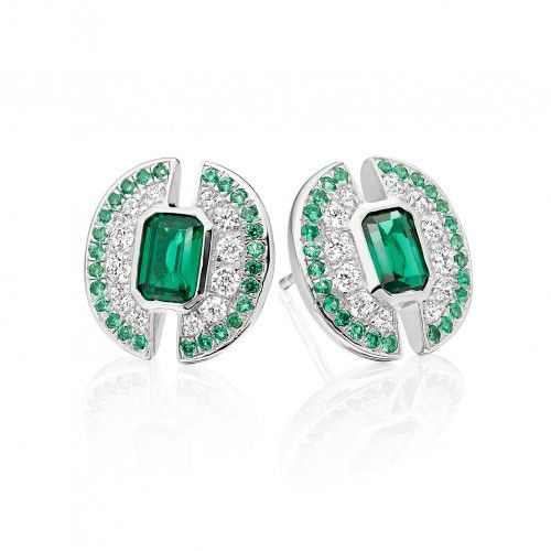 Strong  Bold  Empowered - Emerald of Light #Earrings http://shardsoflondon.com/ #Jewellery #Jewelry #Emeralds