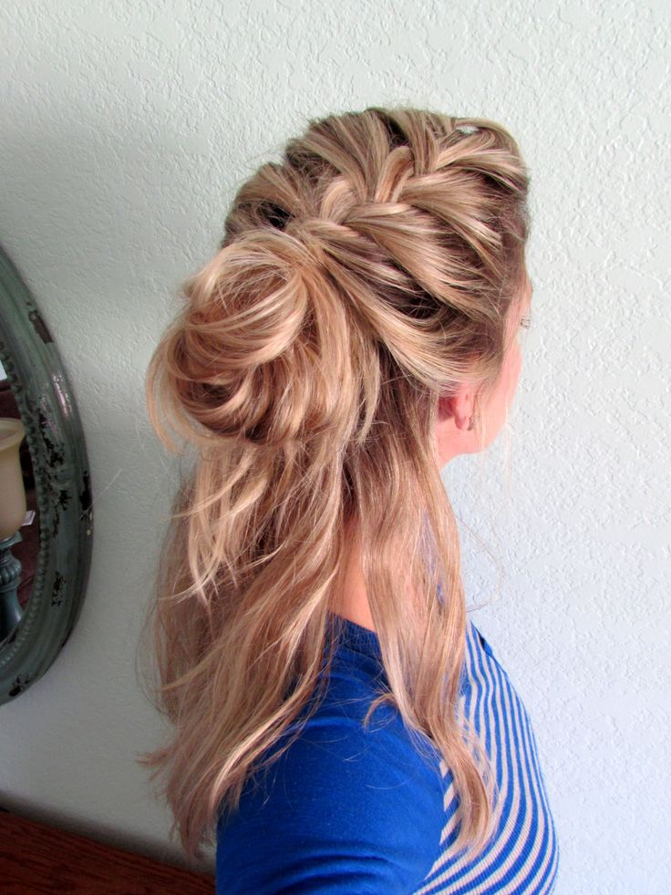 Easy To Follow How To Video Half Up French Braid Amp Messy