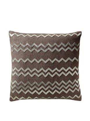 65% OFF Aviva Stanoff Herringbone Pillow, Brown