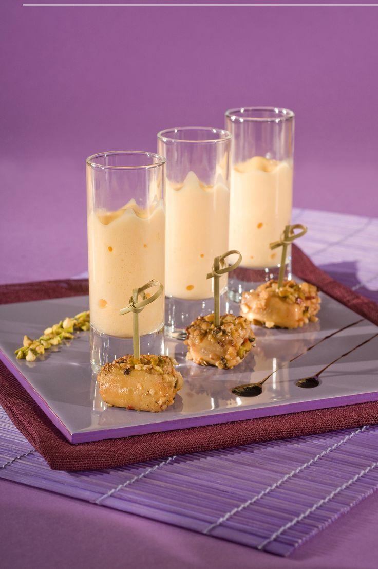 Bouchées de #foiegras poêlé et son #espuma. #Recette et conseils de nos #chefs sur www.feyel.com