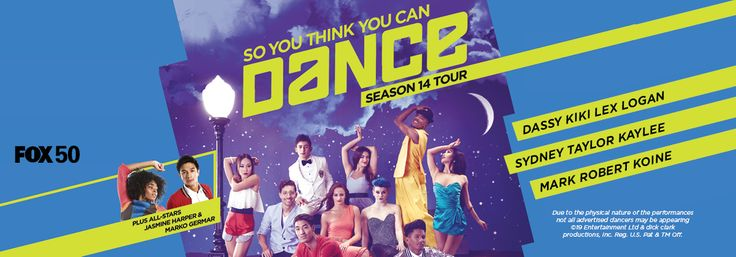 http://triangleartsandentertainment.org/wp-content/uploads/2017/10/SYTYCDTourPOSTER-DPAC2017.jpg - October 2017 Triangle Dance Calendar - At 7:30 p.m. on Wednesday, Oct. 25th, the Durham Performing Arts Center will present So You Think You Can Dance, featuring Season 14 Top Ten Finalists Robert Green, Logan Hernandez, Lex Ishimoto, Koine Iwasaki, Dassy Lee, Kaylee Millis, KiKi Nyemchek, Taylor Sieve, Sydney Tormey, and Mark... - http://triangleartsandentertainment.org/2017/10
