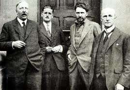 Expats living in Paris.....Ford Madox Ford, James Joyce, Ezra Pound, John Quinn. Paris, 1920s.